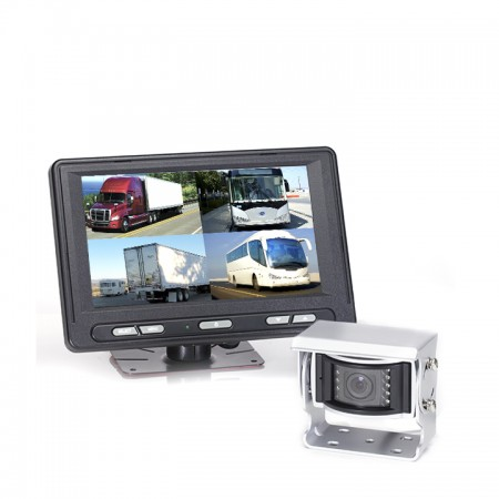 HC-082577 | Backup Camera System One (1) Camera Setup with Waterproof Quad View Monitor