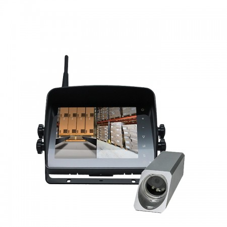 "HC-577FW | Wireless Safety Camera System for Forklifts with 5"" Dual Screen Display"