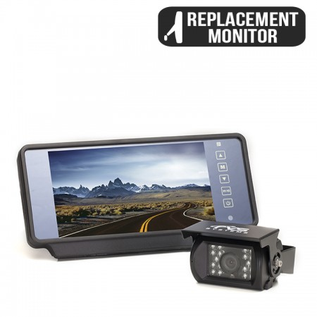 "HC-770619N | Backup Camera System One (1) Camera Setup with 7"" Replacement Mirror Display"