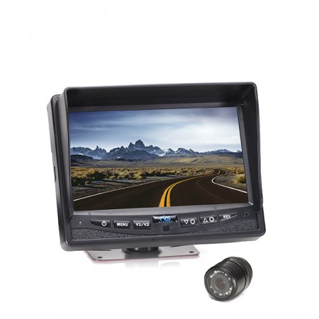 "HC-0825009   Backup Camera System One (1) Flush Mount Camera Setup with 7"" Display"