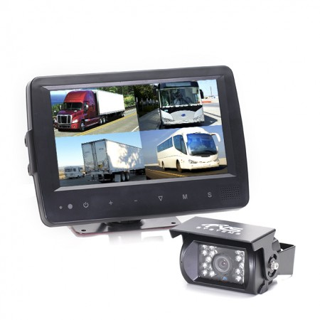 HC-082574 | Backup Camera System with Waterproof Quad View Monitor