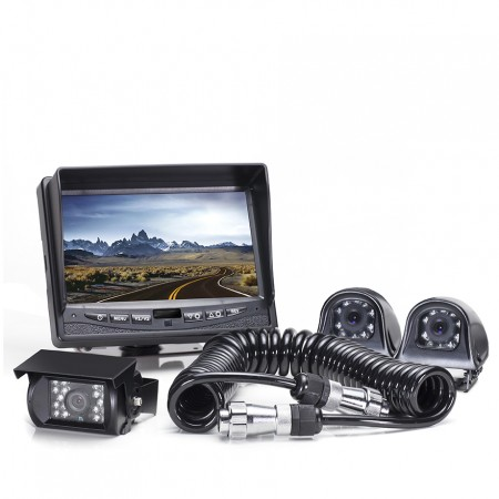 Hanscom K Backup Camera System with Side Cameras and Quick Connect Kit HC-082506T