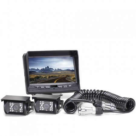 Hanscom K Backup Camera System with Two Cameras and a Quick Connect Kit HC-082519