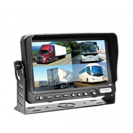 "HC-M603 | 7"" TFT LCD Digital Quad View Color Monitor with DVR"