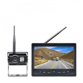 "HC-355W | Wireless Backup Camera System with 7"" Display and Wired Side Camera Inputs"