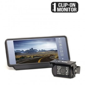 "HC-082619P | Backup Camera System One (1) Camera Setup with 7"" Clip-On Mirror Display"