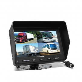 "HK-704 | 7"" LED Quad View Color Monitor (Korean)"